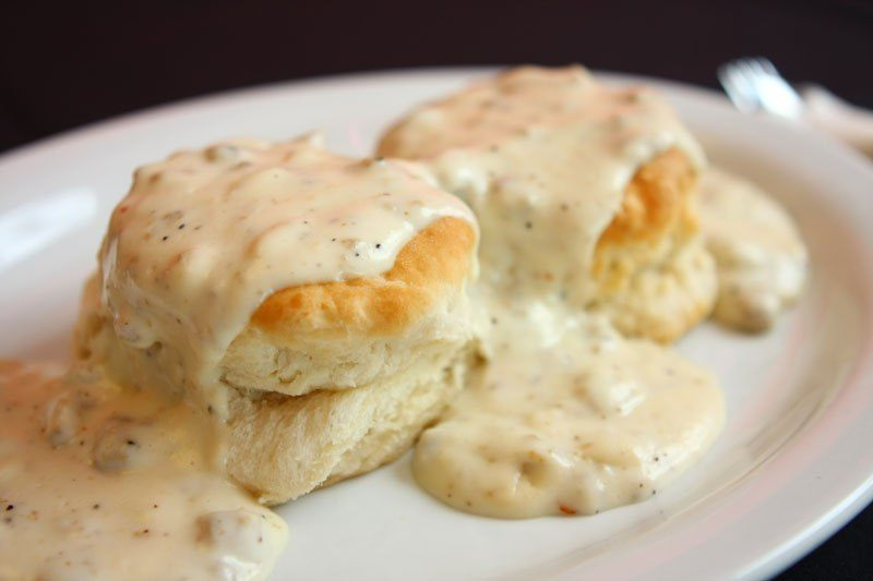 Biscuits and Gravy at Willow Brook Lodge