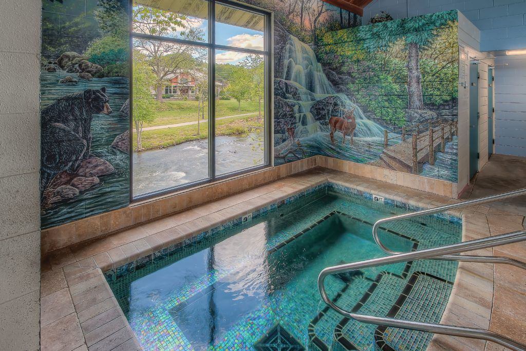 Top Indoor pool in Pigeon Forge at Willow Brook Lodge